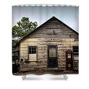 Old Filling Station Shower Curtain