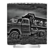 Old International - Bw 2 Shower Curtain