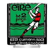 old Irish postage stamp Shower Curtain