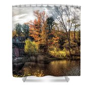 Old Mill Boards Shower Curtain