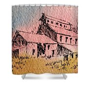 Old Mill Cable Ghost Town Montana_ Shower Curtain