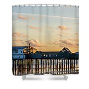 Old Orchard Beach Maine  Shower Curtain
