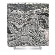 Old Rock Background Shower Curtain by Tom Gowanlock