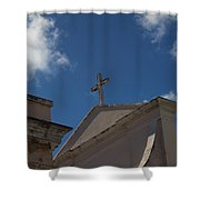 Old San Juan Puerto Rico Downtown Church Shower Curtain