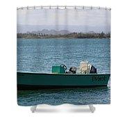 Old San Juan Puerto Rico Local Boats Shower Curtain
