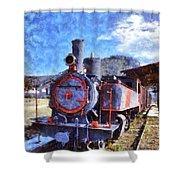 Old Steam Train In Nafplio Town Shower Curtain