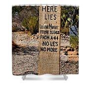 Old Tucson Graveyard Shower Curtain