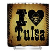 Old Tulsa Shower Curtain