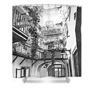 Old Viennese Courtyard Shower Curtain