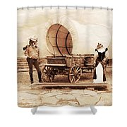 Old West Cats  Shower Curtain