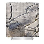 Olmstead Rock And Cracks 2 Shower Curtain