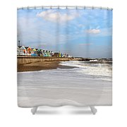 On A Beach Shower Curtain