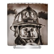 On Duty And Into Fire Shower Curtain