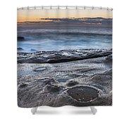 On The Ledge - Sunrise Seascape Shower Curtain