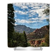 On The Road To Red Rocks  Shower Curtain