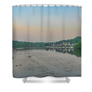 On The Schuylkill River At Boathouse Row - Philadelphia Shower Curtain