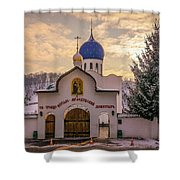One Monastery Shower Curtain