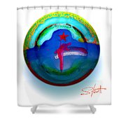 One Tower Shower Curtain