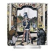 Open Door Cartoon, 1900 Shower Curtain