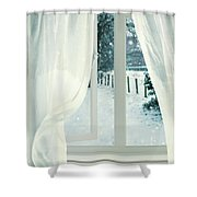 Open Window Shower Curtain