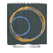 Orange And Blue 2 Shower Curtain