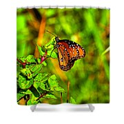Orange Butterfly Too Shower Curtain