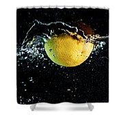 Orange Splashing In Water Shower Curtain