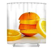 Oranje Lemon Shower Curtain