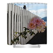 Orcas Island Rose Shower Curtain
