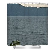 Orcas Island View Shower Curtain