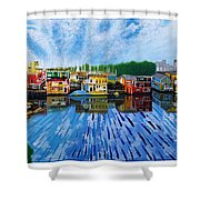 Original Abstract Painting On Canvas Shower Curtain