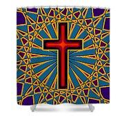 Ornamental Cross Shower Curtain