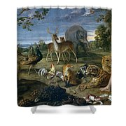 Orpheus And Animals Shower Curtain