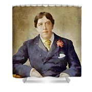 Oscar Wilde, Literary Legend Shower Curtain