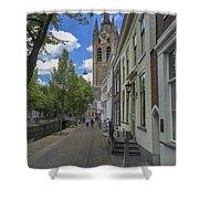 Oude Kerk In Delft Shower Curtain