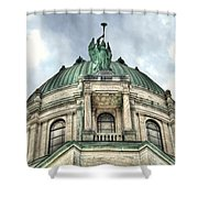 Our Lady Of Victory Angel Shower Curtain