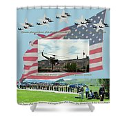 Our Memorial Day Salute Shower Curtain