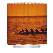 Outrigger Canoe Shower Curtain