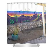 Outside Mural Shower Curtain