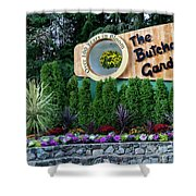 Over 100 Yrs In Bloom, Historic Garden Icon, The Butchart Gardens. Shower Curtain