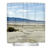 Owens Dry Lake Shower Curtain