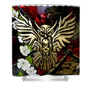 Owl In Flight Collection Shower Curtain