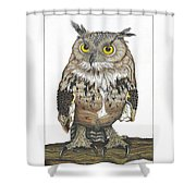 Owl In Pose Shower Curtain