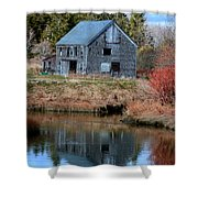 Owls Head Barn Shower Curtain