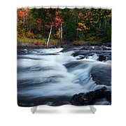 Oxtongue River Ontario Autumn Scenery Shower Curtain