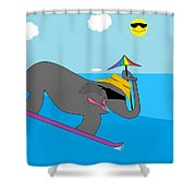 Surf Paddy Shower Curtain