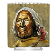 Painted Sands Of Time Shower Curtain