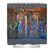 Painted Walls Shower Curtain