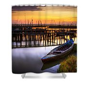 Palaffite Port Shower Curtain