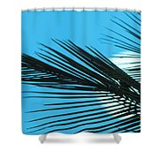 Palm Frond Silhouette Shower Curtain
